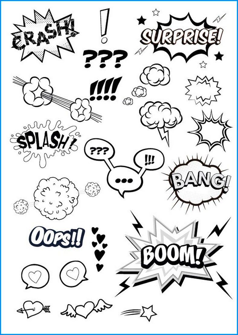 Leere Sprechblasen Zum Ausdrucken In 2020 Comic Zeichnen Lernen Sprechblase Skizze Notizen