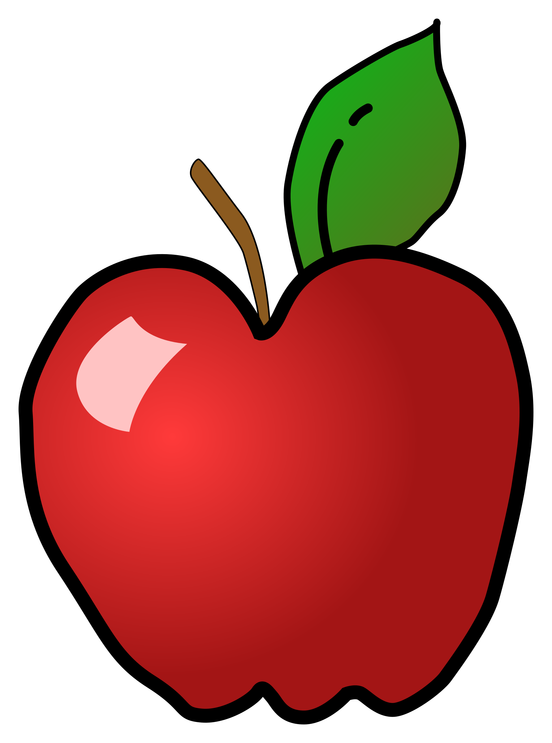Clipart Polished Apple Apple, Clip art, Red apple