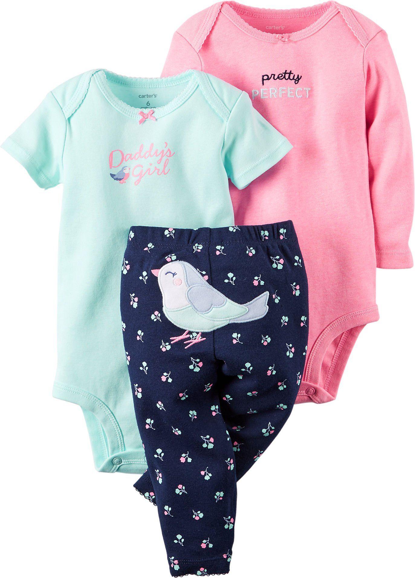 Carters Baby Girls 3-pc. Daddy\'s Girl Bodysuit Set (Preemie) | BABY ...