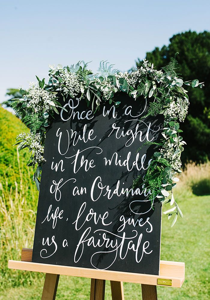 Are YOU Having A Chalkboard At Your Rustic Outdoor Wedding? You Should Be,  And