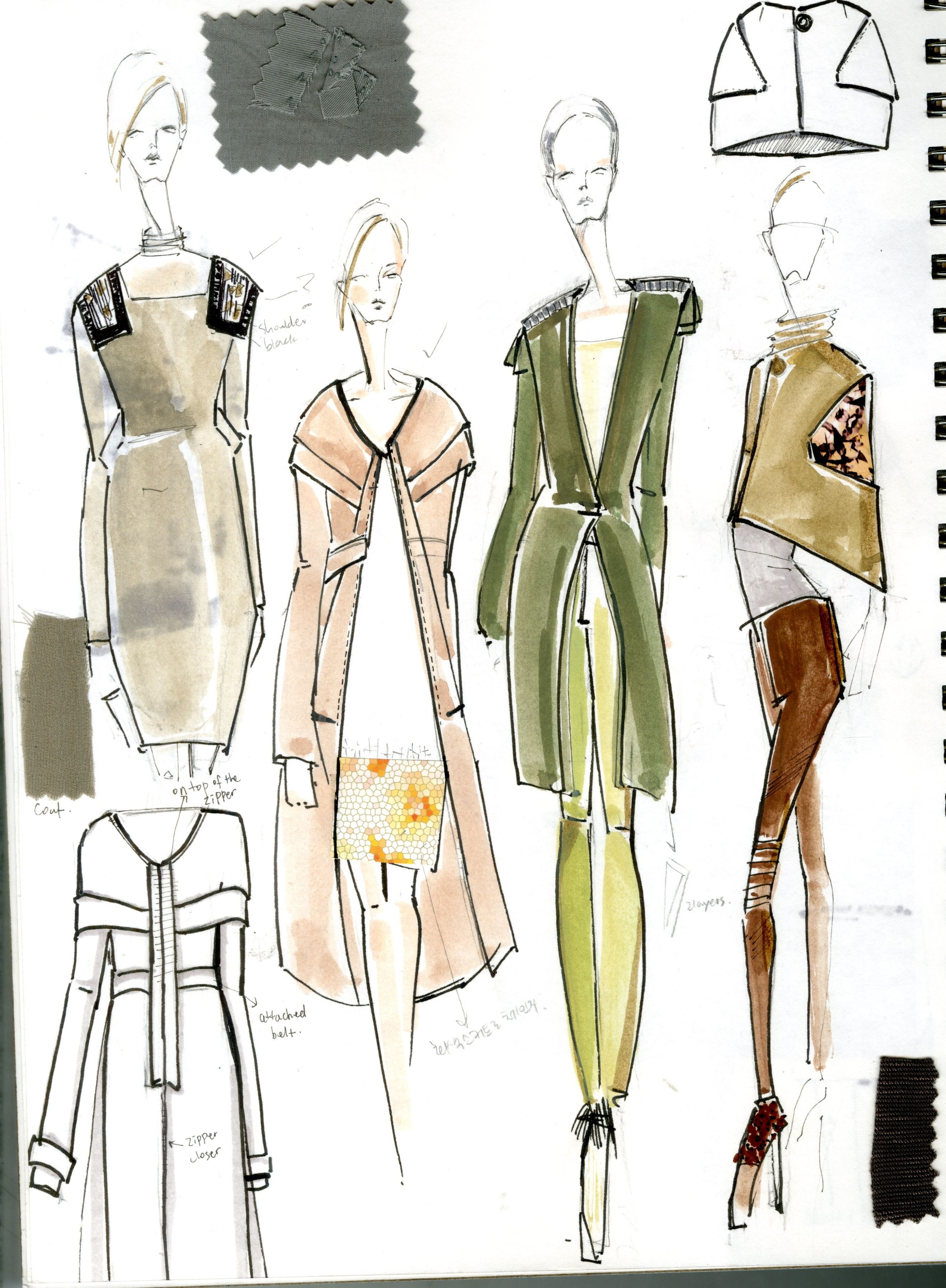 Fashion Sketchbook Fashion Design Sketches Fabric Swatches And