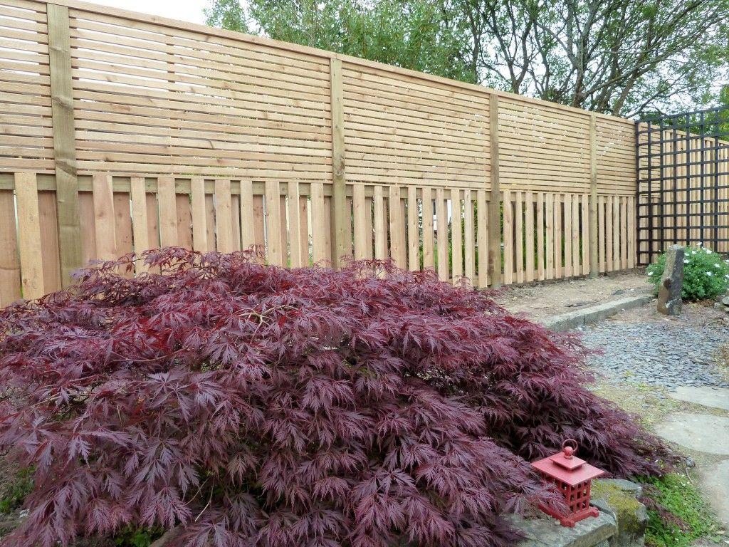 Contemporary Bespoke Fence For Japanese Garden