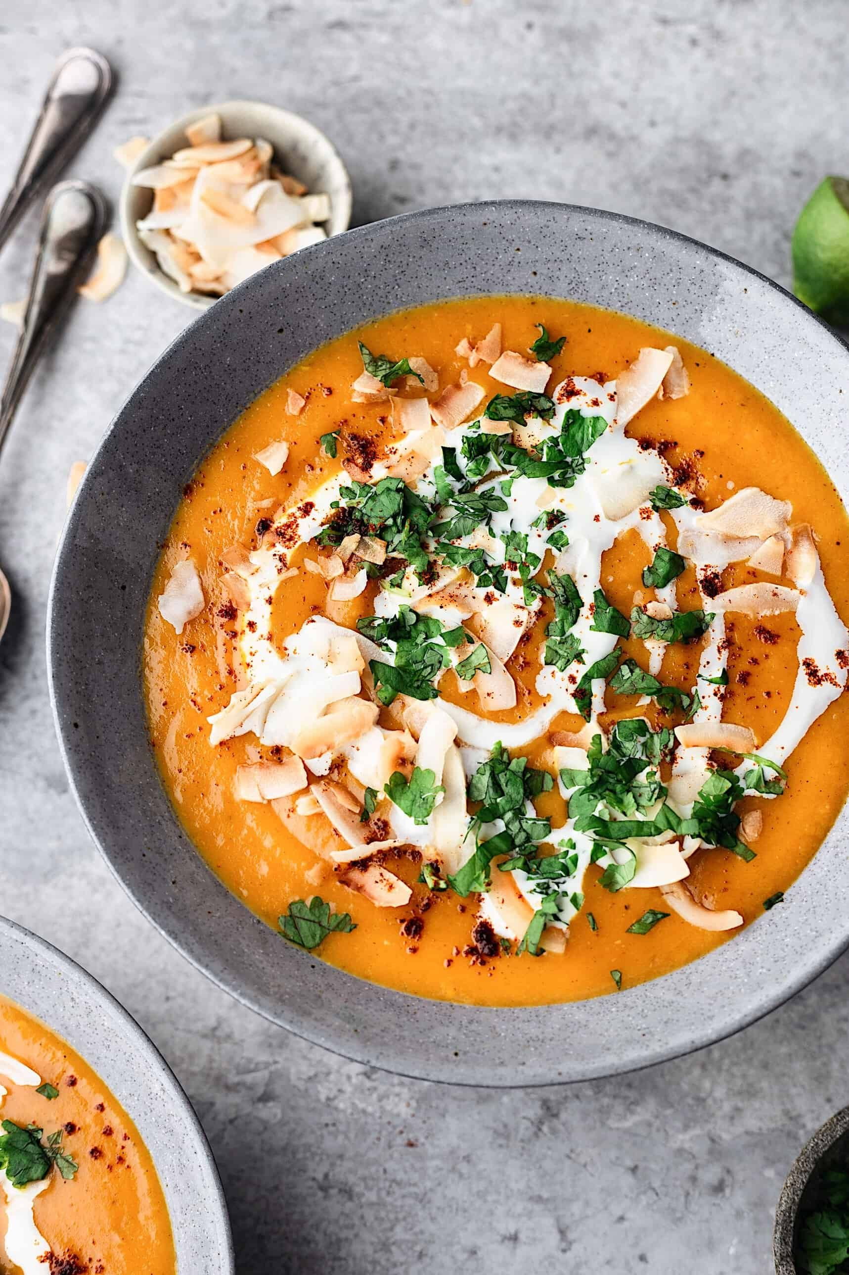 Sweet Potato And Coconut Curry Soup
