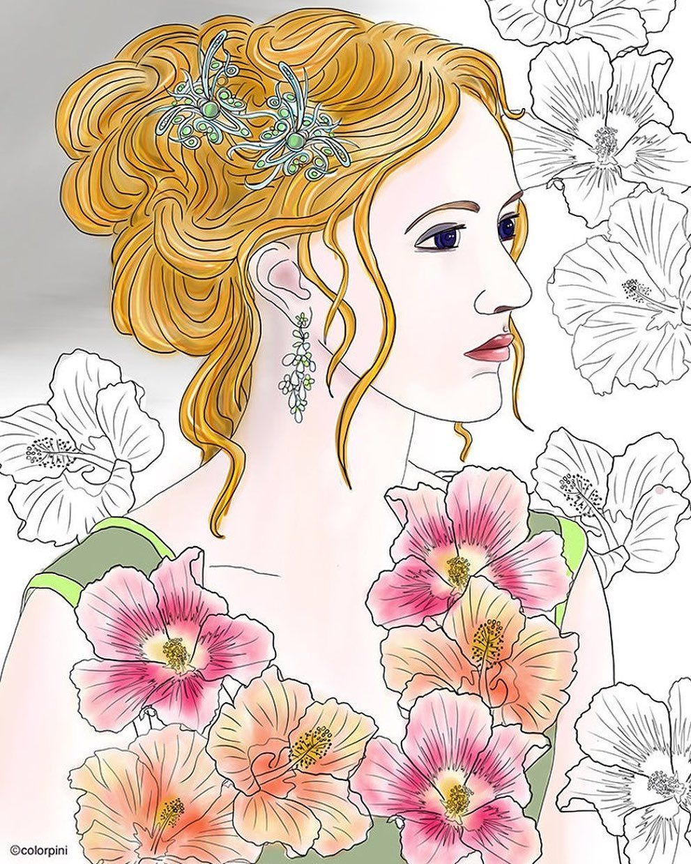 Colorpini On Instagram Coloring Beautiful Designs Flower Duchess Series Comes In 3 Coloring Pages In A Pdf File To Do In 2020 Beautiful Design Coloring Pages Color