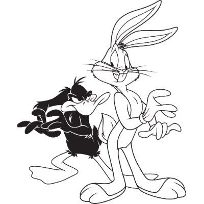 Bugs Bunny Lunar Tunes Daffy Duck Bugs Bunny And Daffy Duck T