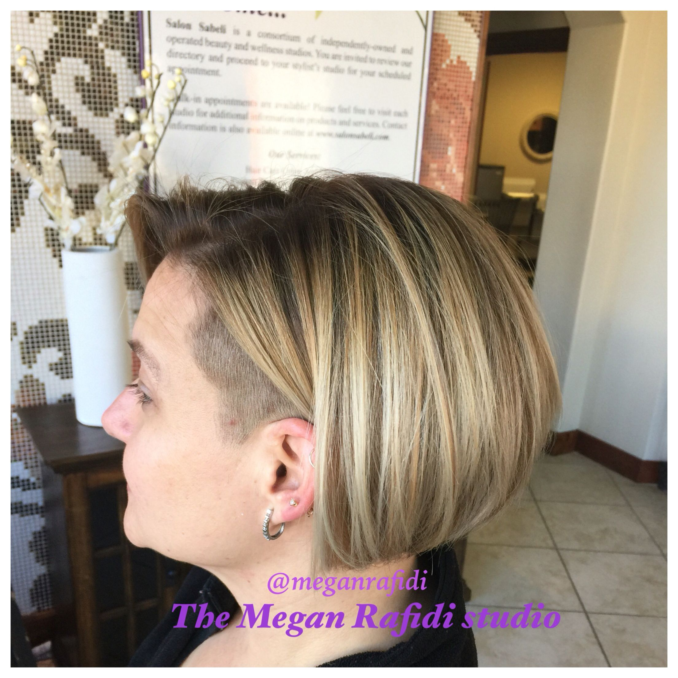 asymmetric undercut bob. shaved on the side and underneath! this