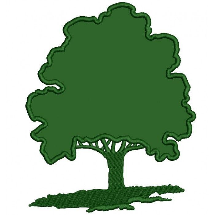 Large Oak Tree Applique Machine Embroidery Design