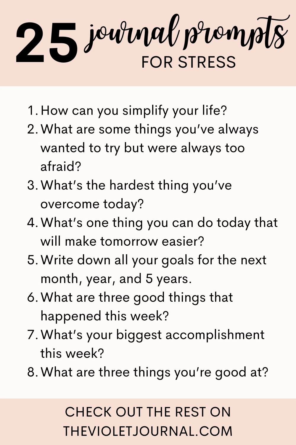 25 Journal Prompts for Stress