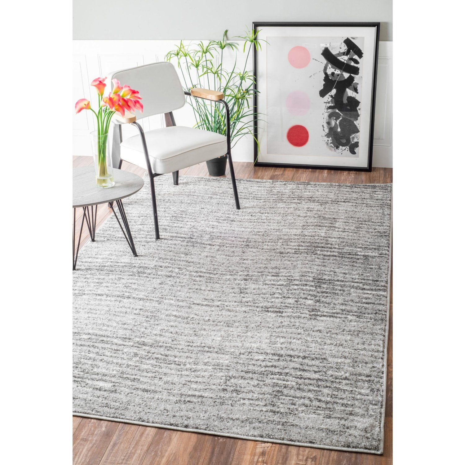 Amazon Contemporary Solid Polypropylene Area Rug Kitchen
