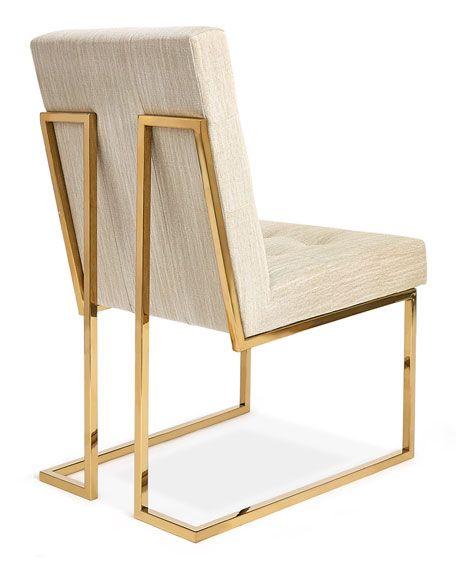 Jonathan Adler Goldfinger Oatmeal Dining Chair Chairs Modern