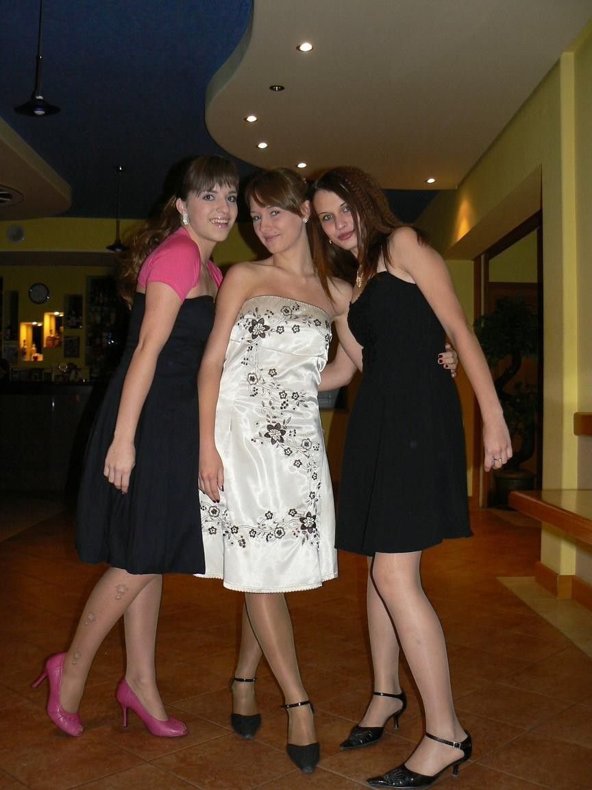 c8fcc884301 Friends Pose Together Showing Their Sexy Legs In Nude Nylon Pantyhose With  High Heels – Girls With Legs
