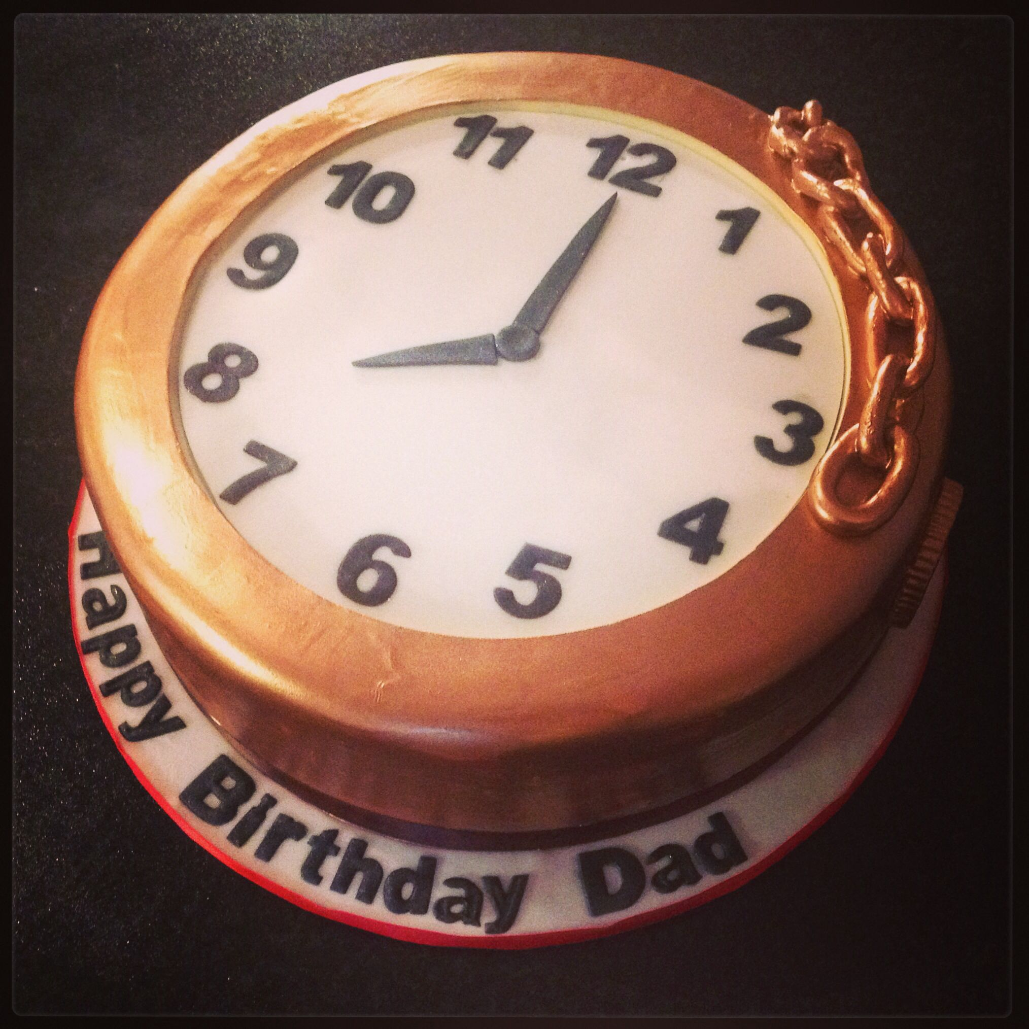 Pocket Watch Cake 90th Birthday Cakes How To Make Cake