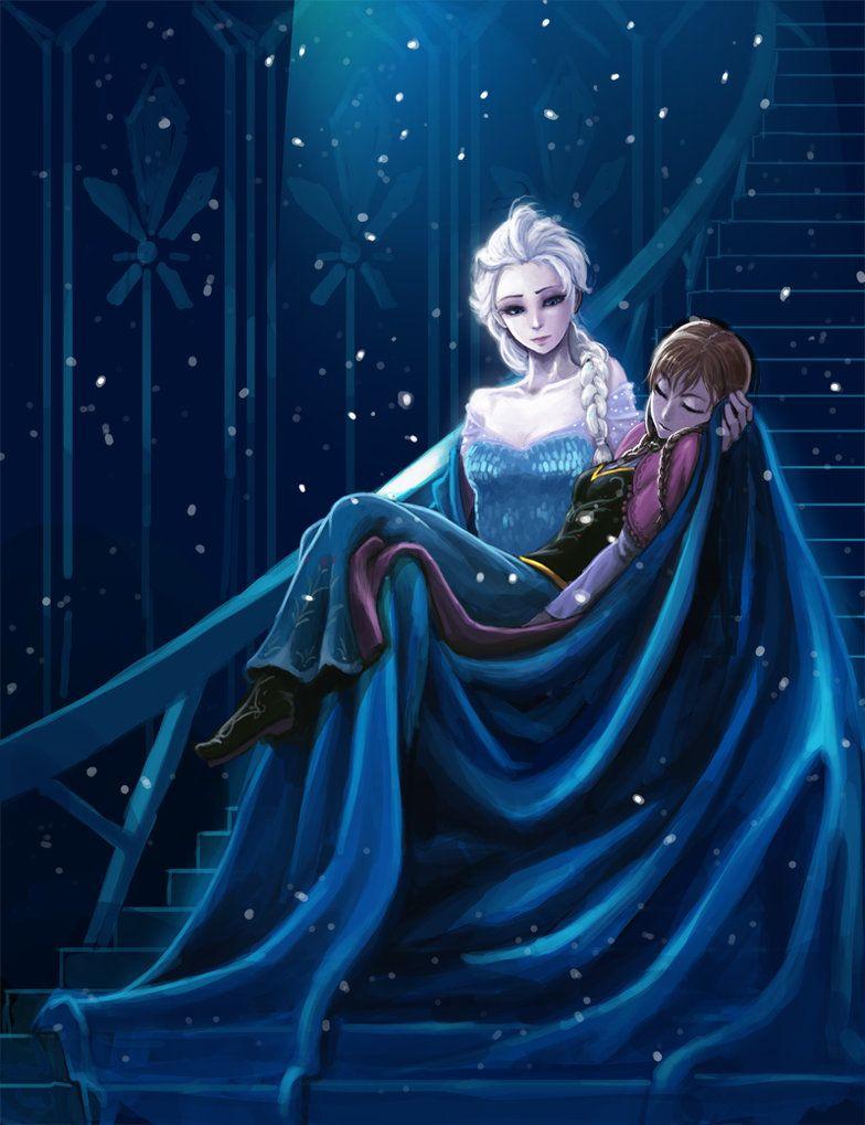 Queen Elsa & Anna (http://th01.deviantart.net/fs70/PRE/f/2014/025/1/7/sss2_by_kimbbq-d73qr9v.jpg)