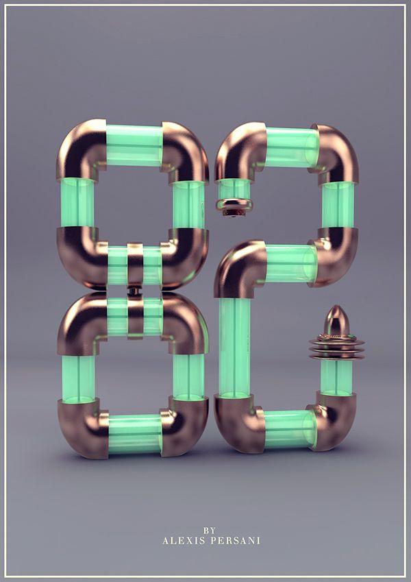/// 100 Creativ numberz /// on Behance