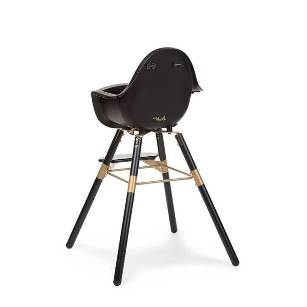 Chaise Evolu 2 Noir Et Or Child Wood Taille Tu Chaise