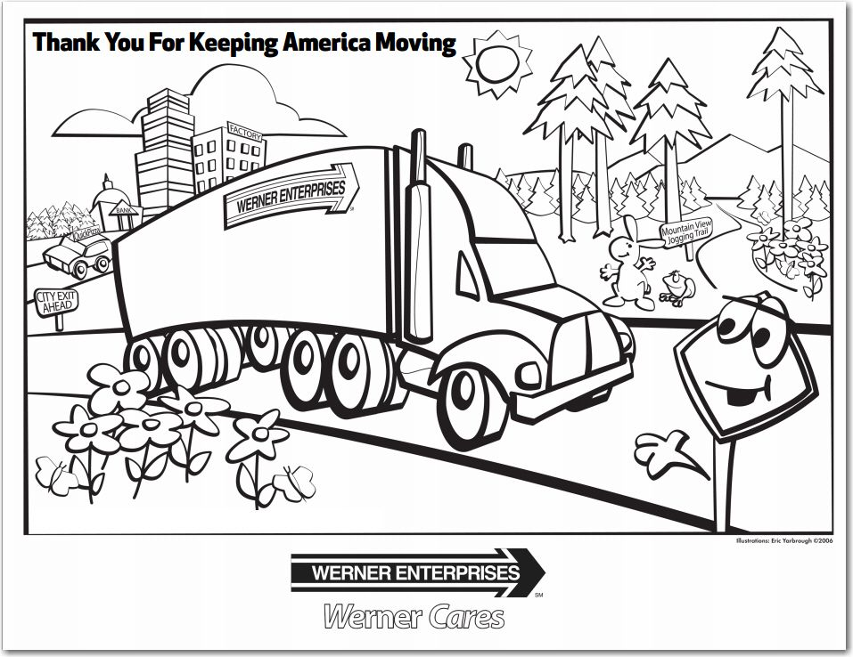 Thank You For Keeping America Moving Coloring Page Thank You Cards Coloring Pictures Cards