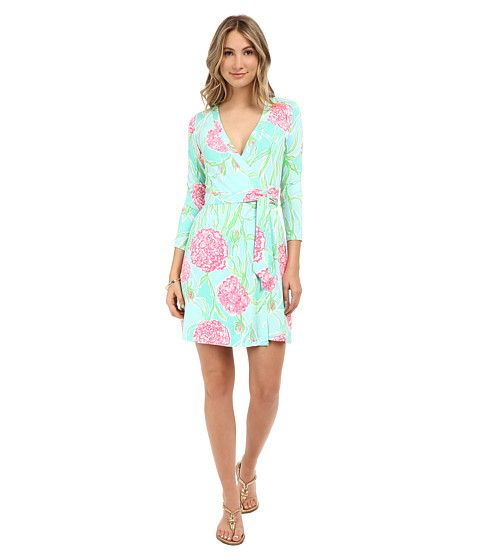 69d6362c519 Lilly Pulitzer Meridan Wrap Dress Poolside Blue Going Stag - Zappos.com Free  Shipping BOTH Ways
