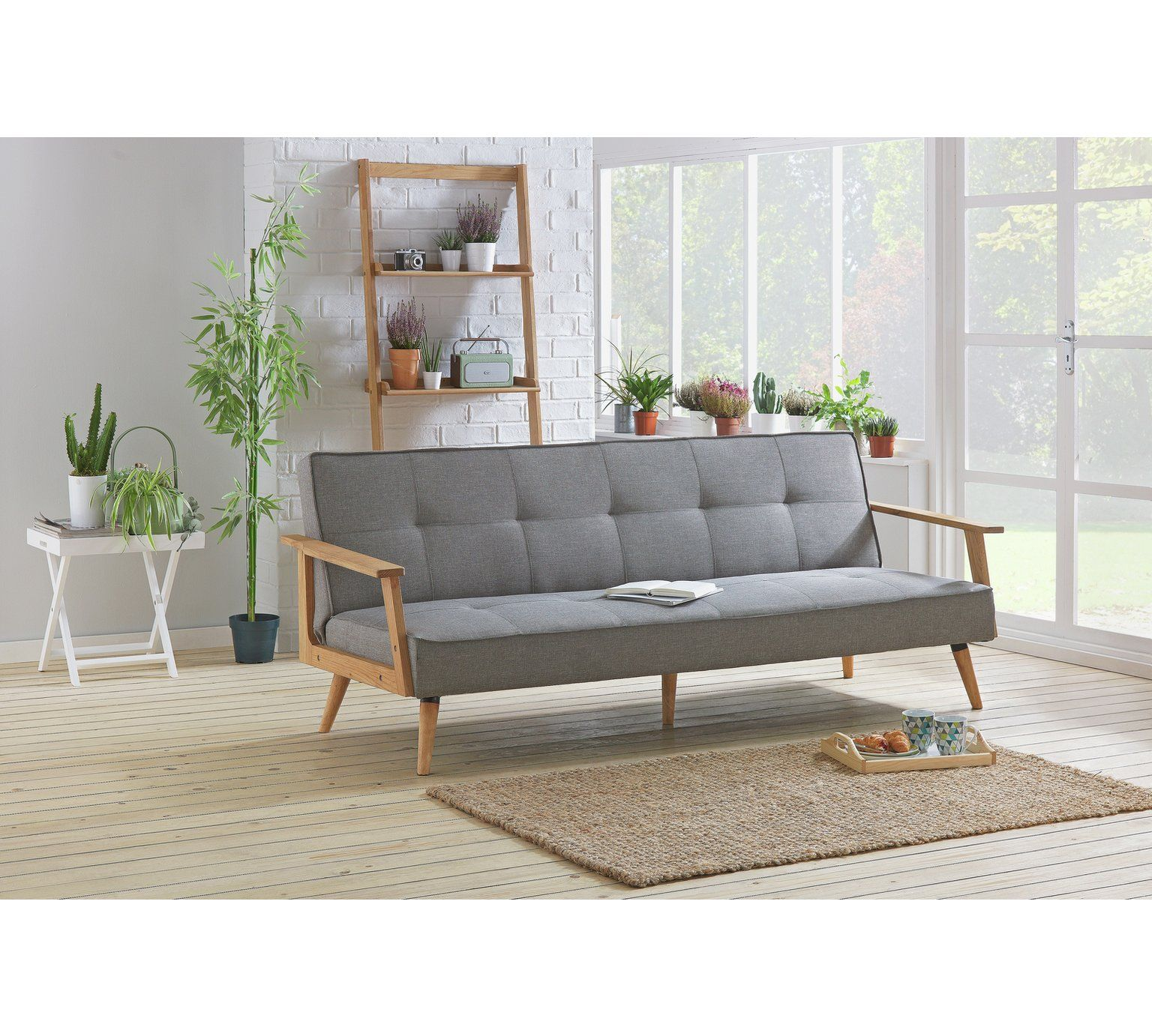 sofa beds argos co uk marshmallow flip open elmo sesame buy hygena margot 2 seater fabric bed charcoal at