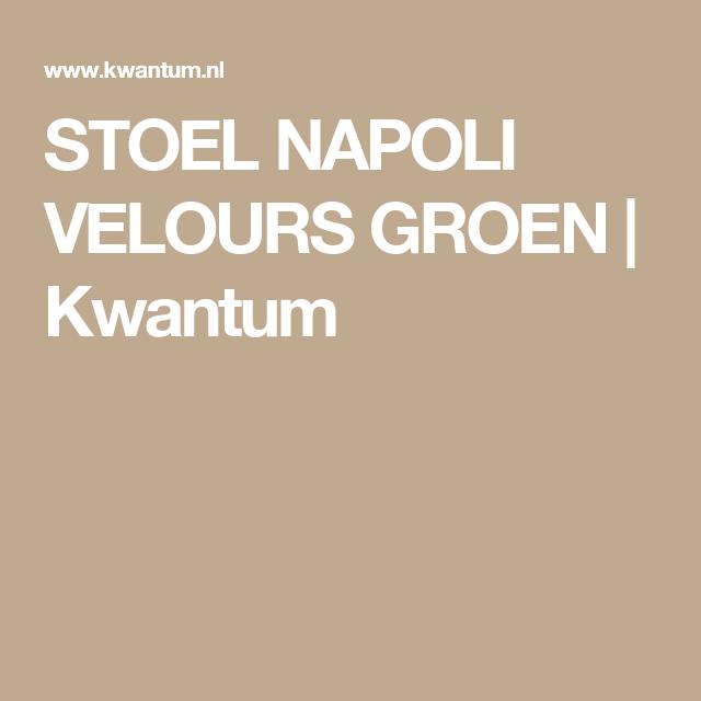 STOEL NAPOLI VELOURS GROEN | Kwantum