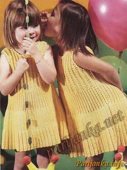 Желтое платье (д) 24*41 Tricot №2912