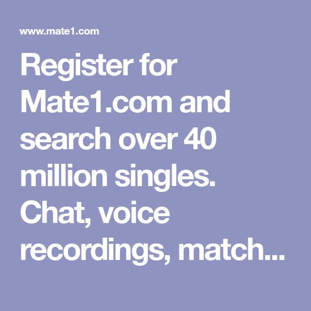 Mate1 registration