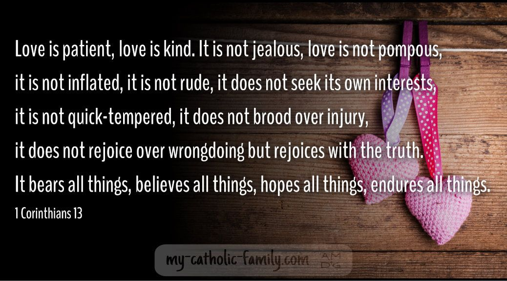 love is patient love is kind Leave a Reply Click here to