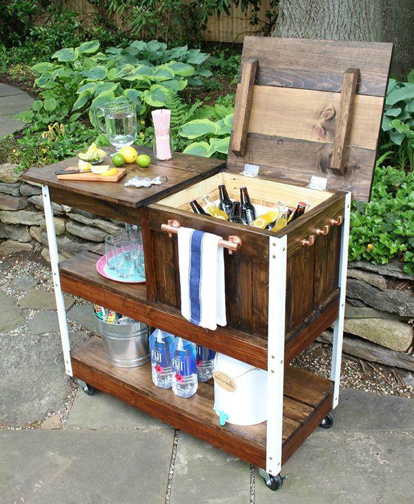 5 Diy Grilling Carts Patio Porch Sit Diy Outdoor Bar Outdoor