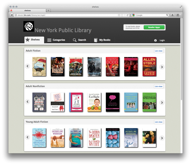 eBook Update OverDrive for Nook, and New Titles in 3M