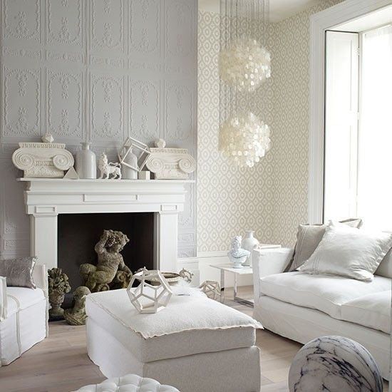 Light Grey And White Living Room