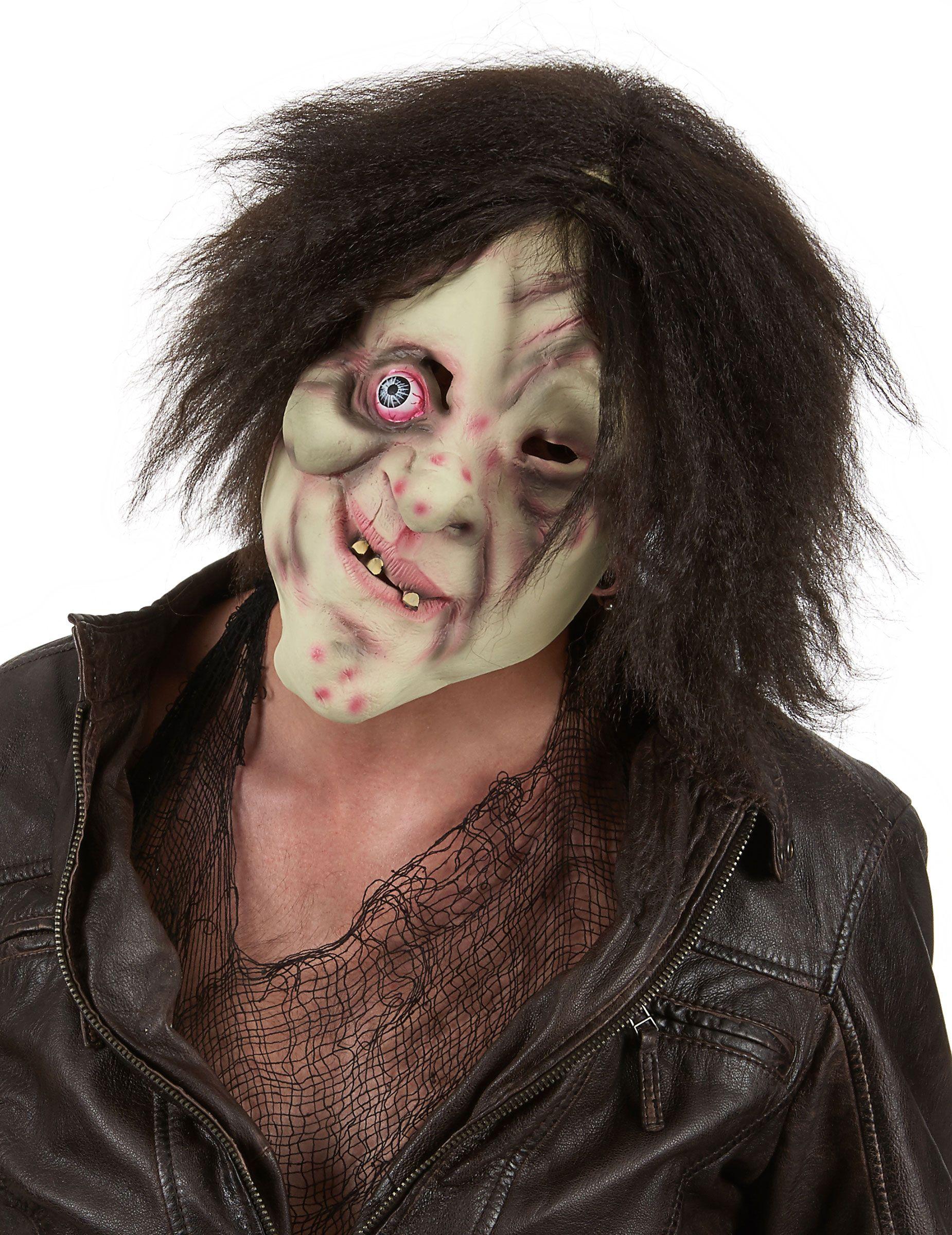 masque bossu avec cheveux adulte halloween ce masque de. Black Bedroom Furniture Sets. Home Design Ideas