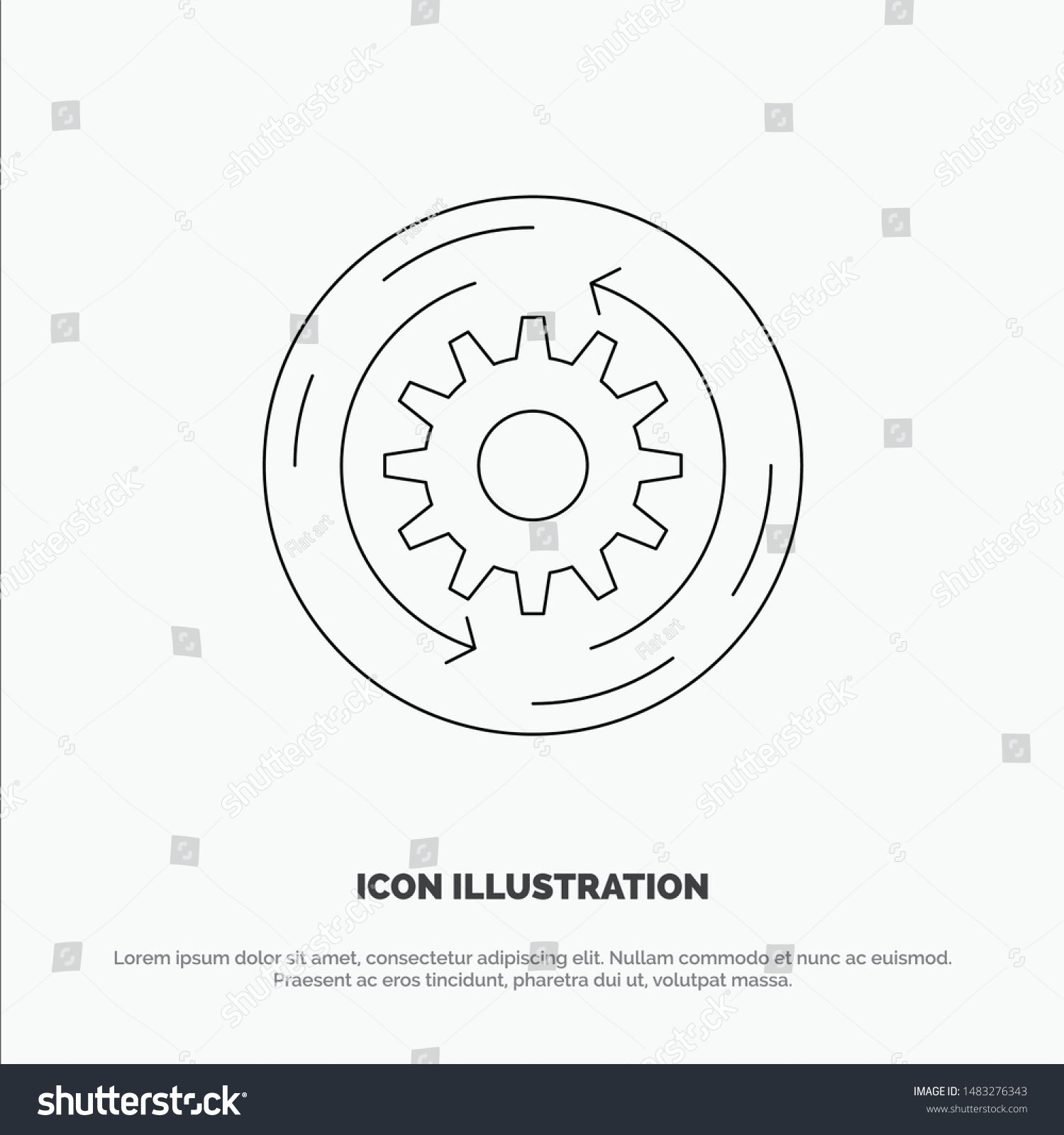 Solution Business Company Finance Structure Line Icon Vector