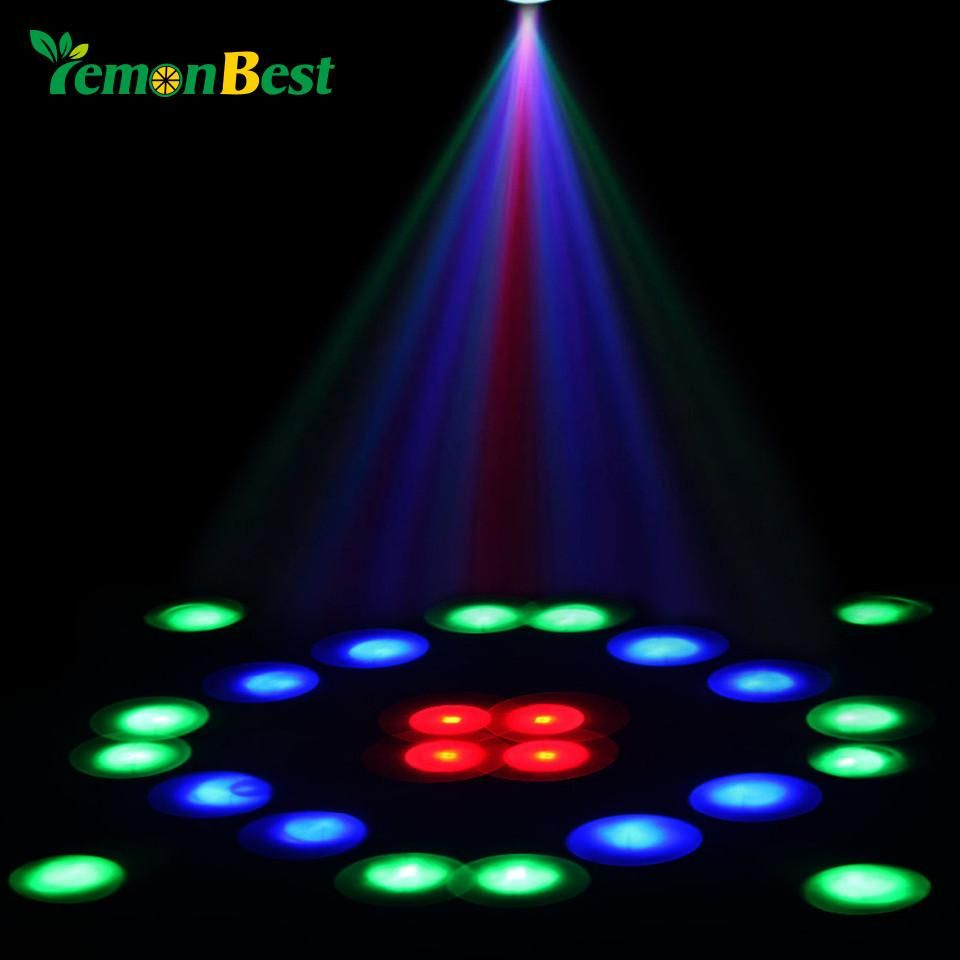 Holiday Decoration Christmas Laser Projector Stage Light 64 Led Disco Dj Club Party Show Projector Lamp 24 Pattern Eu Us Uk Plug Stage Lighting Projector Lamp Christmas Decorations