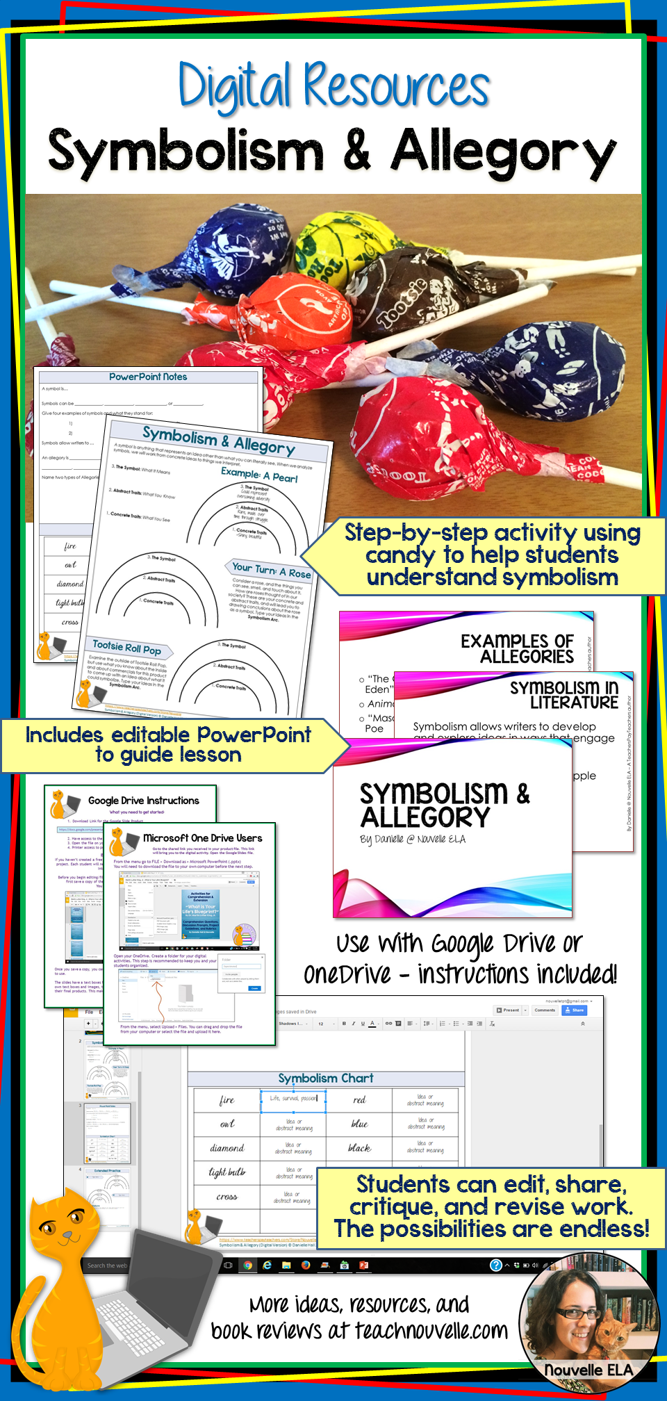 Symbolism And Allegory Digital Resource Nouvelle Elas Teaching