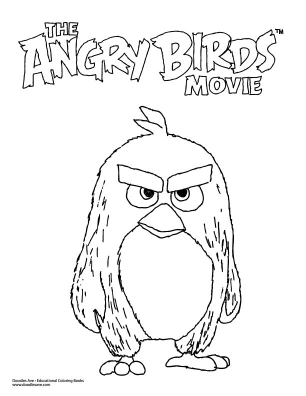 angry birds movie coloring pages - angry birds movie coloring sheet delightful doodles