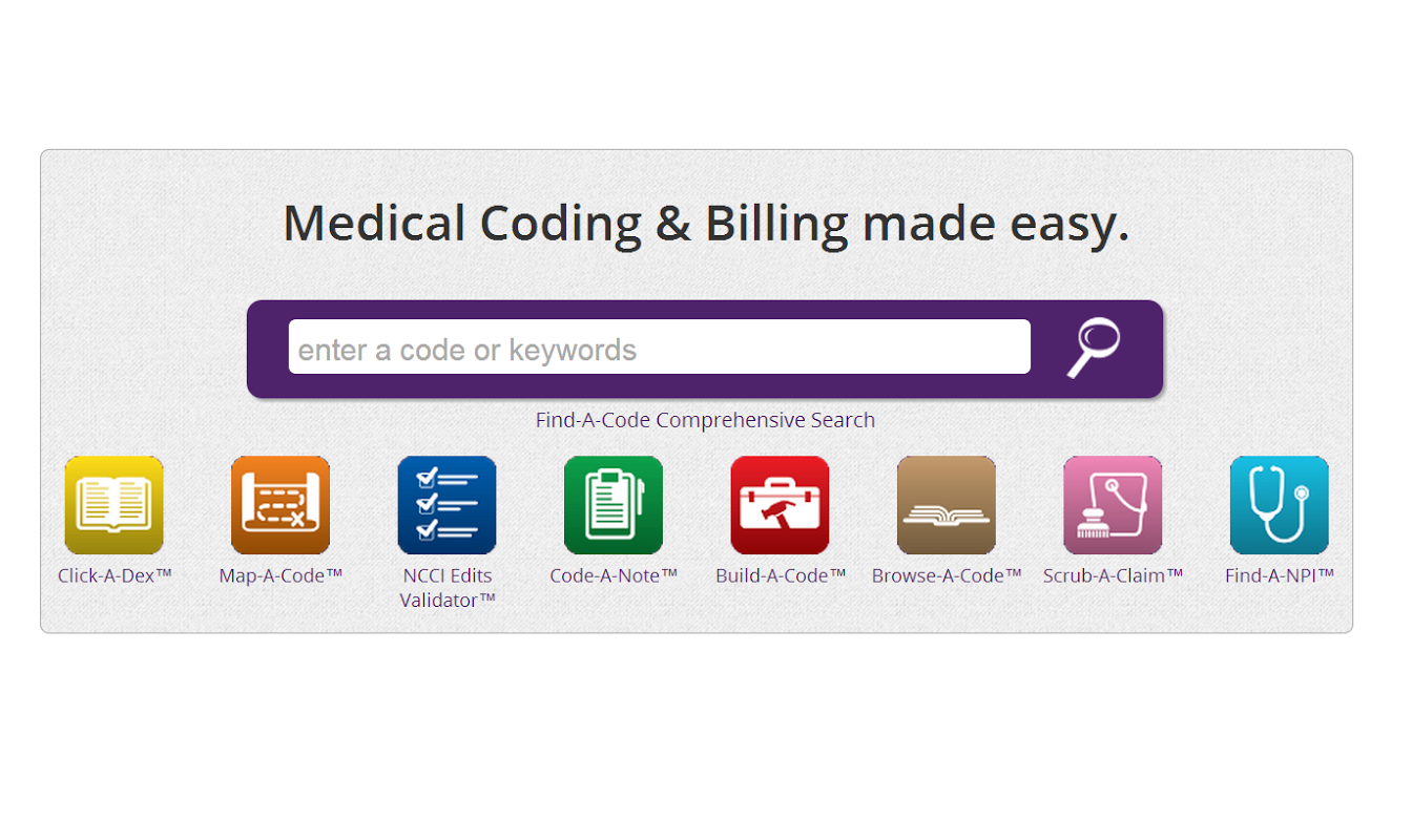 Find A Code Medical Coding Amp Billing Made Easy