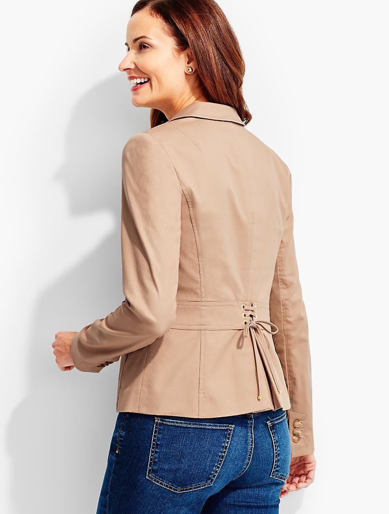 Back Lace Up Jacket Talbots Fashion Jackets Corporate Wardrobe [ 1057 x 800 Pixel ]