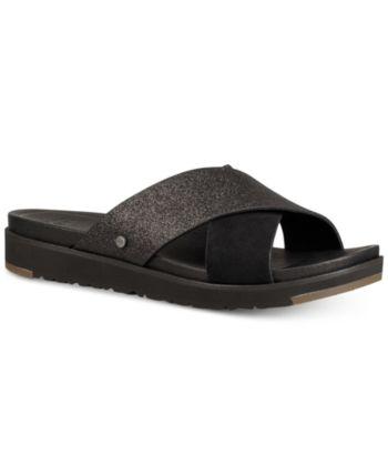 Ugg Women's Kari Glitter Slide Sandals Black 9.5   Womens