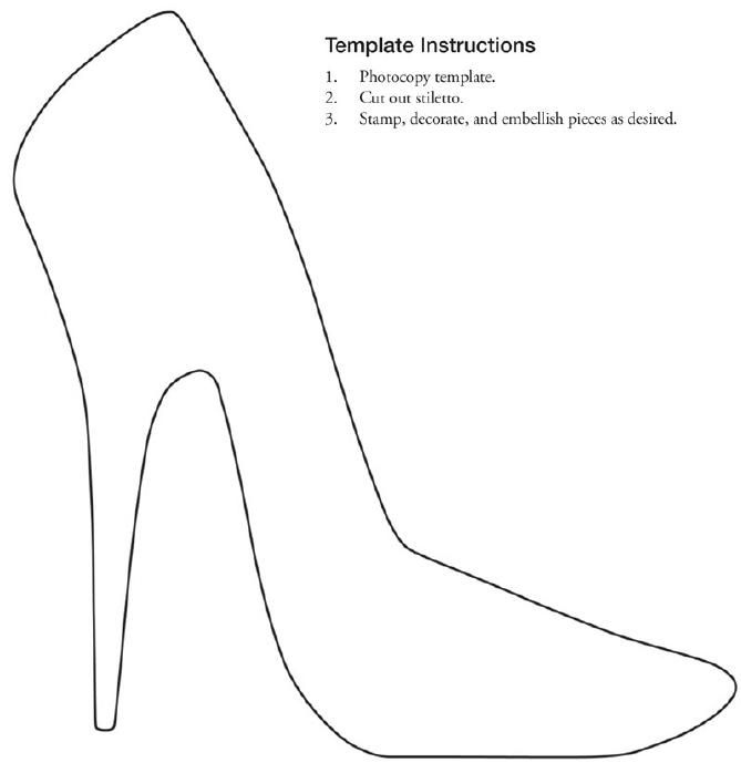 Free Printable Stiletto Shoe Template Collage Scrapbooking With Regard To Best Free High Heel T Shoe Template Stencils Printables Templates Collage Scrapbook