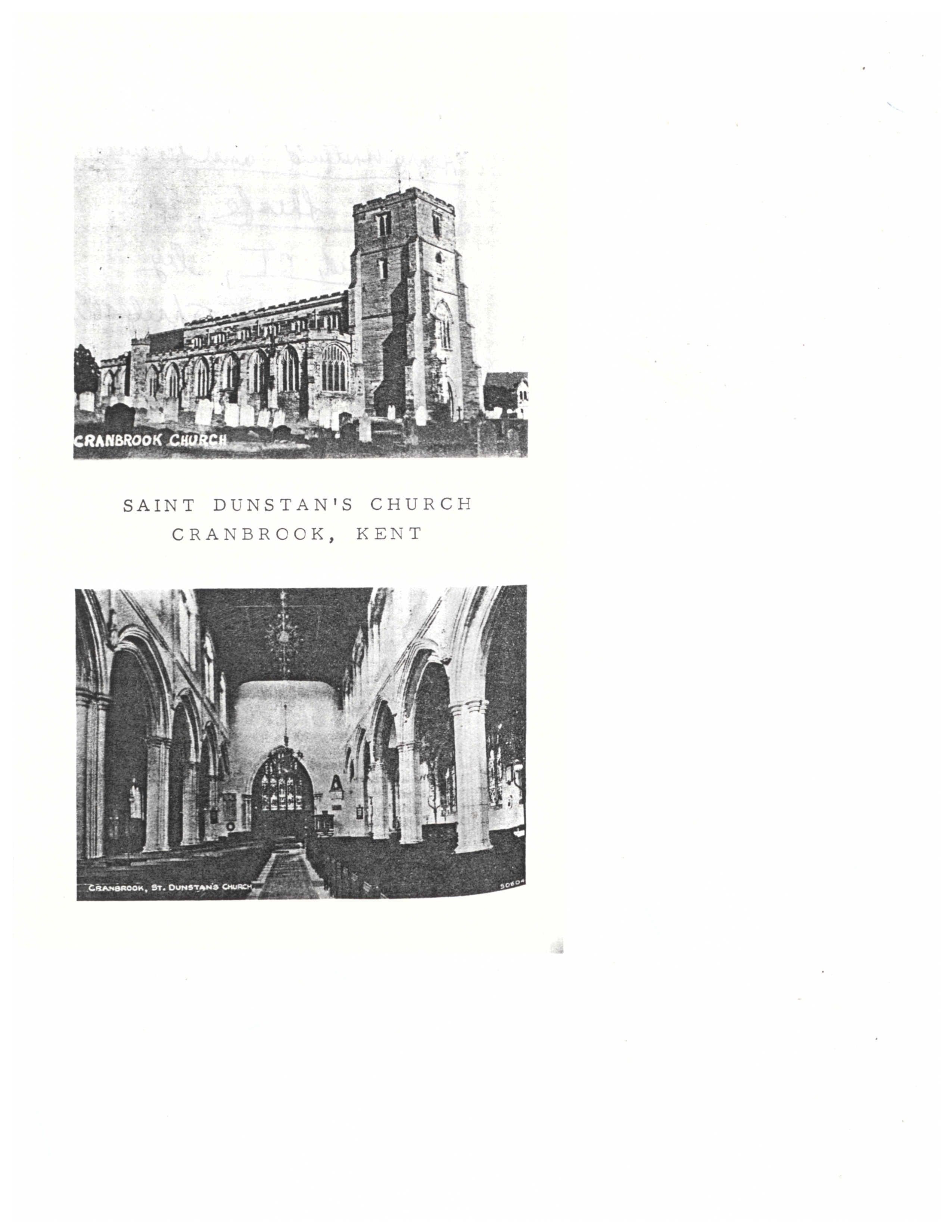 St  Dunstans's Church, Cranbrook, England | Genealogy