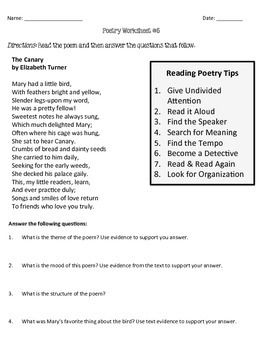 Poetry comprehension worksheets english2 pinterest poetry comprehension worksheets ibookread ePUb