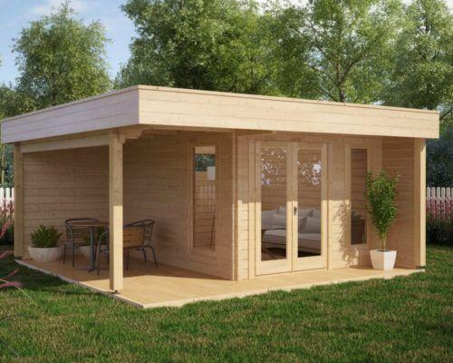 modernes gartenhaus mit terrasse hansa lounge xl 15m 44mm 5x6 pinterest. Black Bedroom Furniture Sets. Home Design Ideas