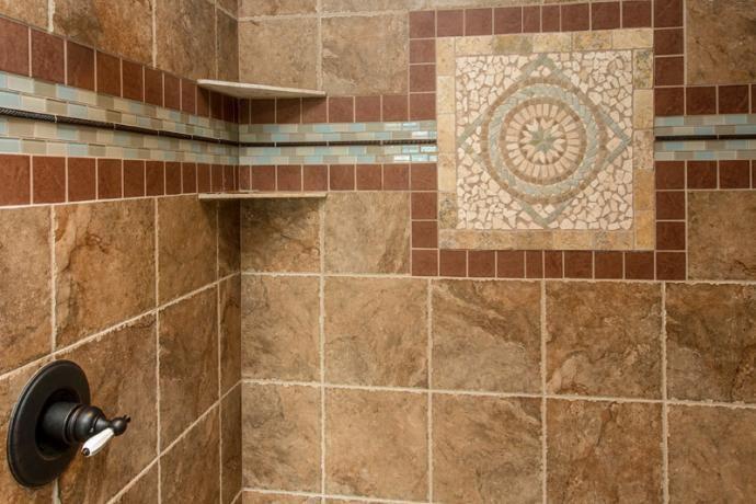 Custom Tile Design Bathrooms Bella Homes Iowa Tile Design
