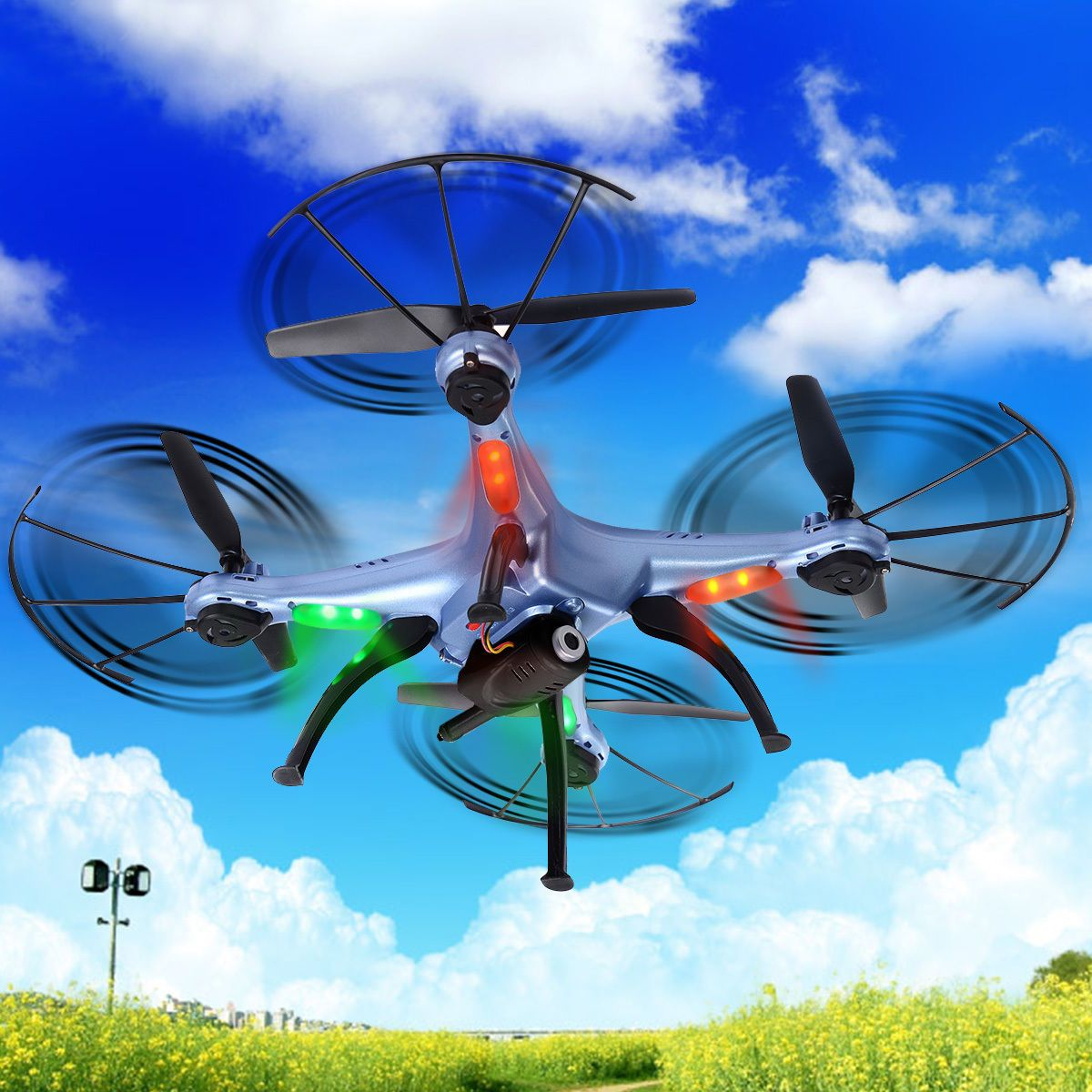 SYMA X5HW 2.4G 4CH 6 Axis FPV RC Quadcopter Drone w// 2.0MP HD Wifi Camera