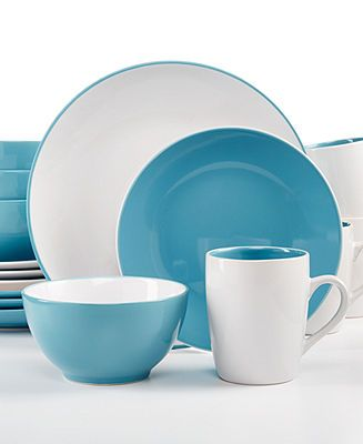 EuroCeramica Sofia Blue 16-Piece Set - Casual Dinnerware - Dining \u0026 Entertaining - Macy\u0027s  sc 1 st  Pinterest & EuroCeramica Sofia Blue 16-Piece Set - Casual Dinnerware - Dining ...