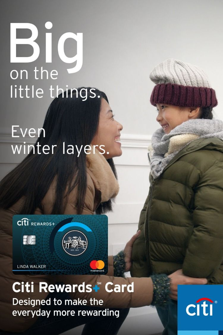 Earn big on winter layers with points that round up to the