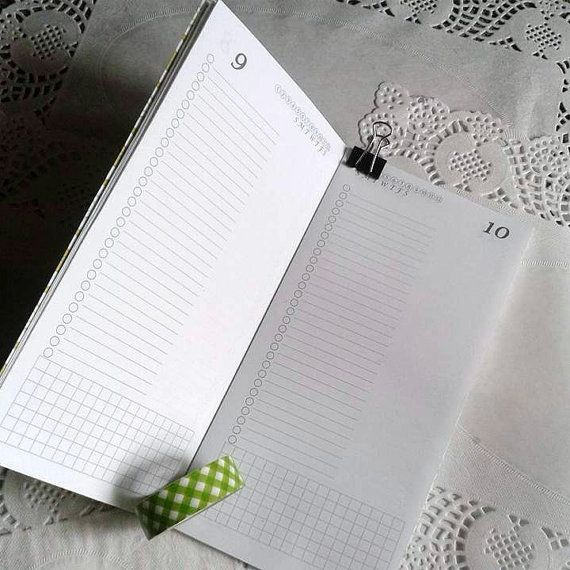 One Day Per Page Traveler\u0027s Notebook Insert - Standard or Personal