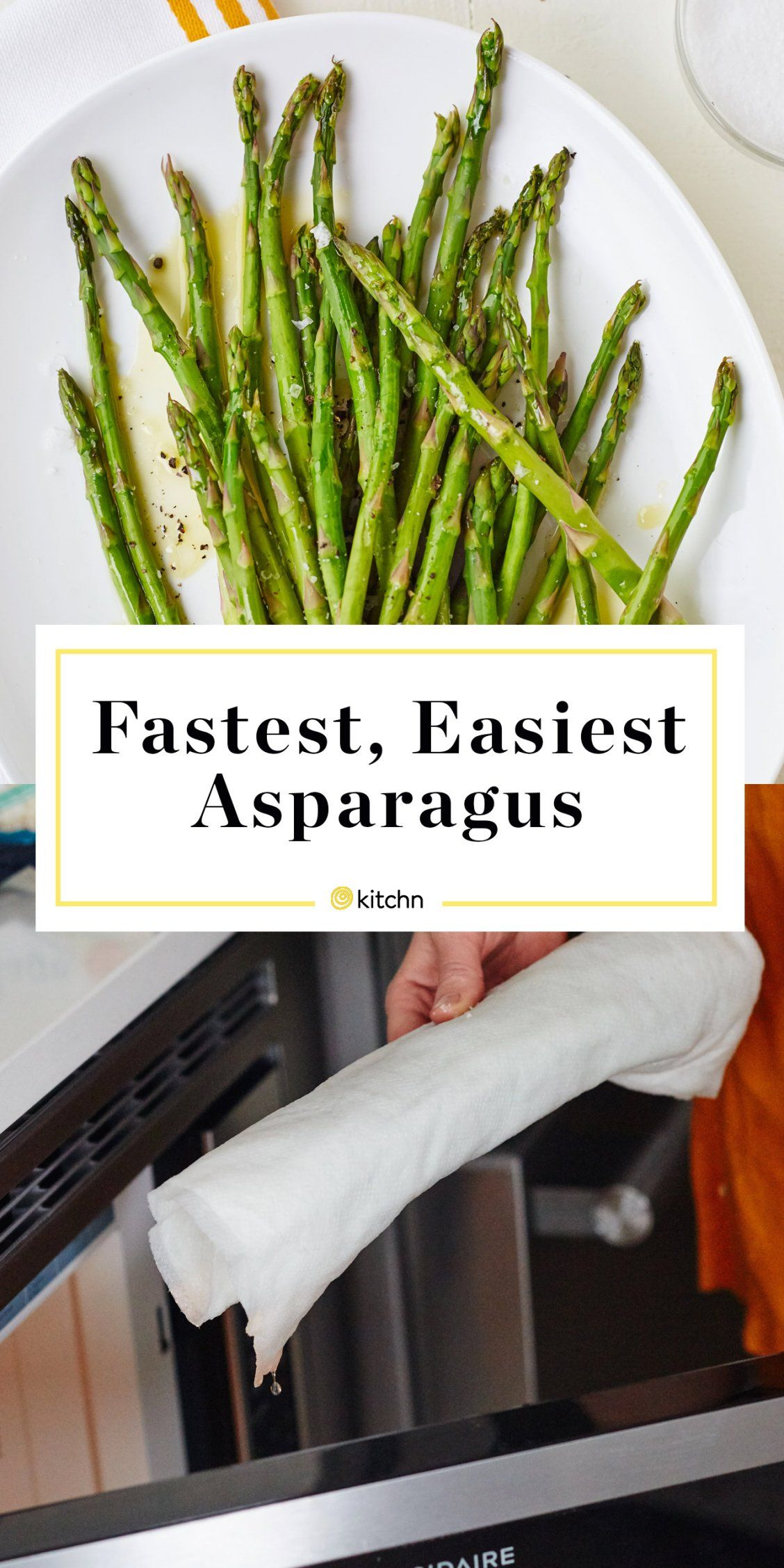 How To Steam Asparagus In The Microwave Recipe Quick Asparagus Recipe Ways To Cook Asparagus Cooking For Beginners