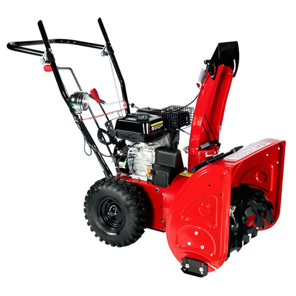 Amico Power 24 Inch 196cc Manual Start Gas Snow Blower Gear Transmission System Overstock Com Shopping The Best Deals On Snow Removal Gas Snow Blower Gasoline Engine Snow Removal Equipment