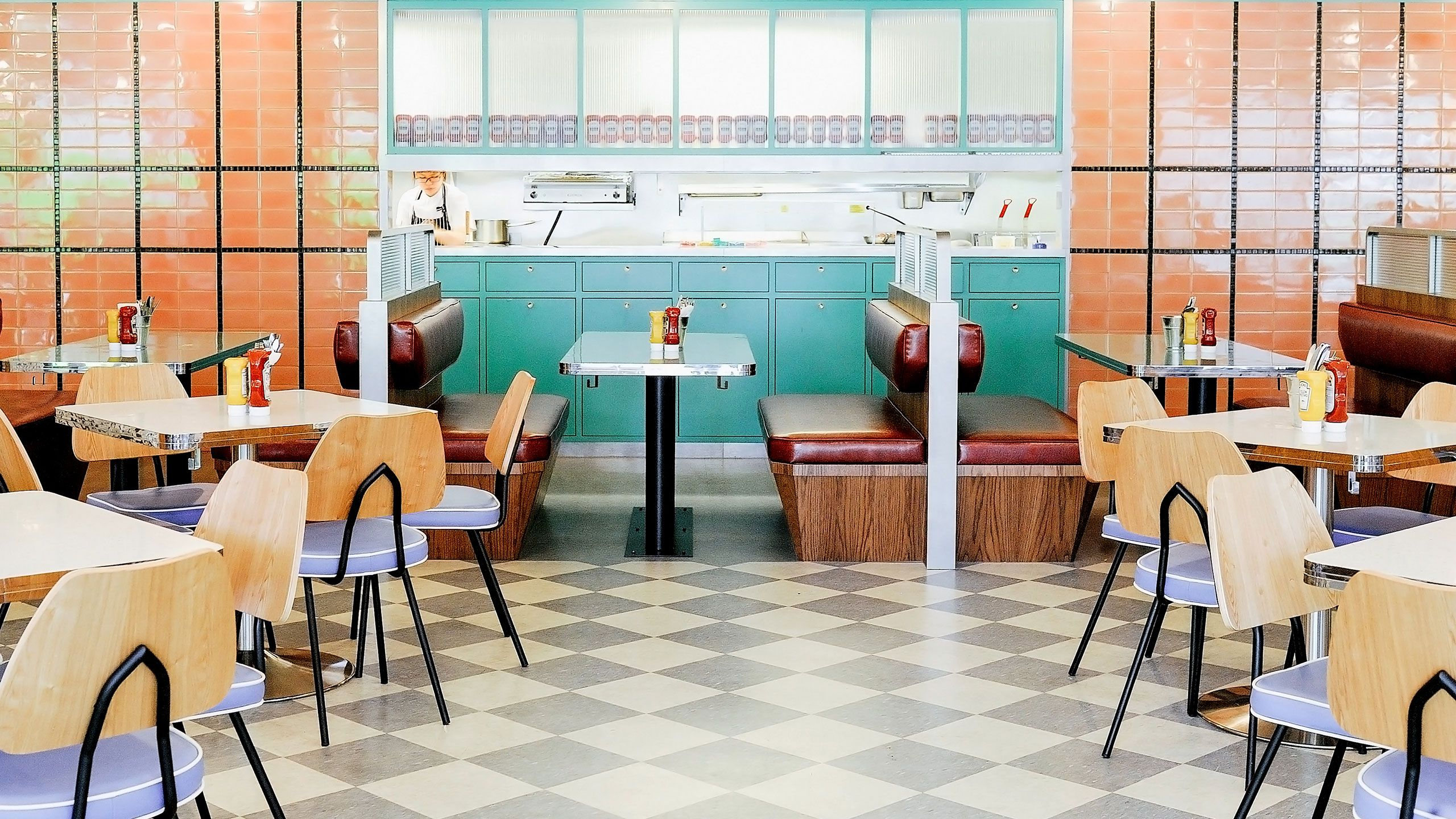Overeasy Orchard A Modern All Pastel Nostalgic Diner In Singapore