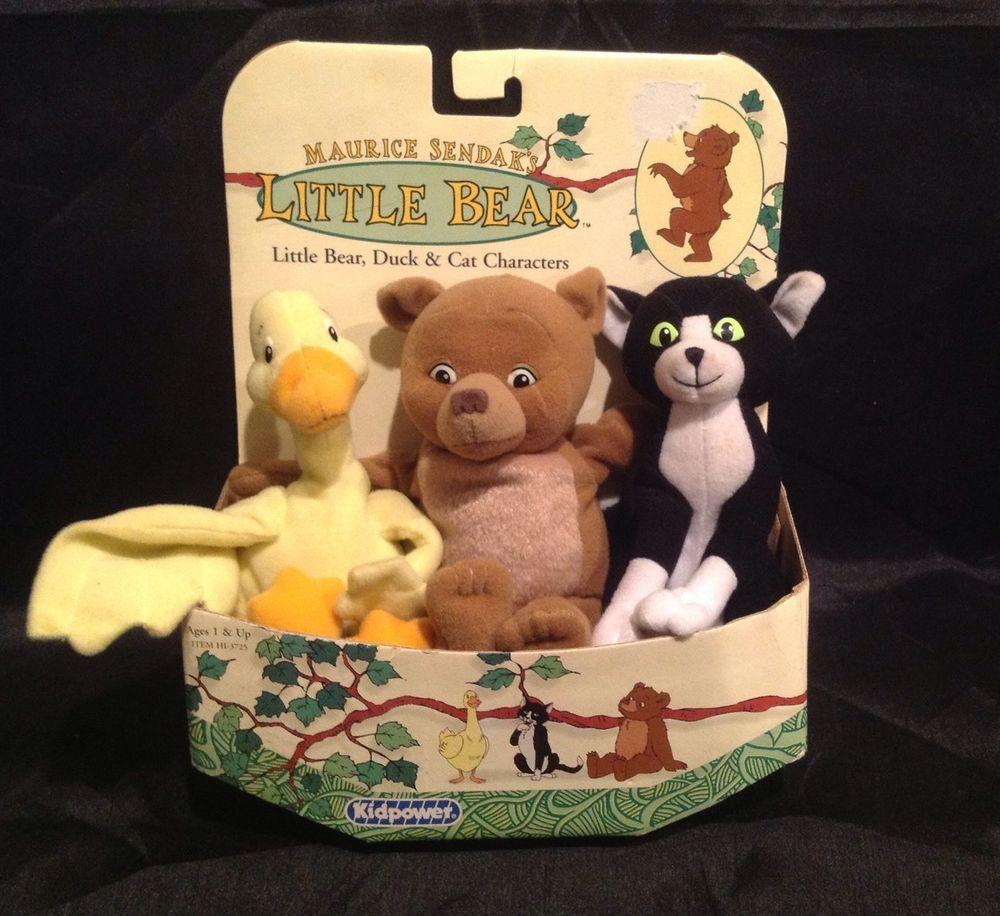 "Maurice Sendak ""Little Bear"" Duck Cat Bear Bean Plush"